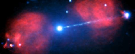 This Supermassive Black Hole Emits a Beam of Particles
