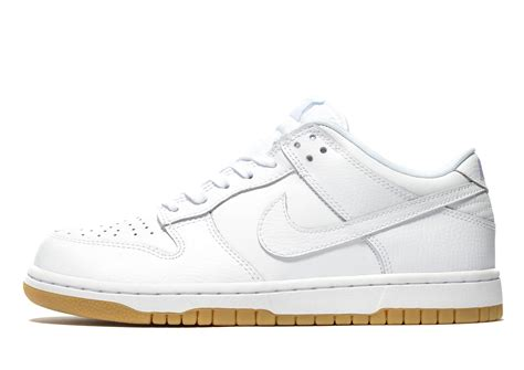 Nike Leather Dunk Low in White - Lyst
