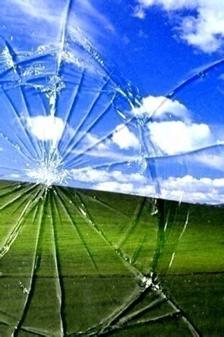 Download Cracked Screen 320 X 480 Wallpapers - 845588
