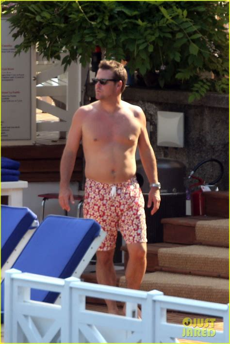 Chris O'Donnell Goes Shirtless for Family Vacation at Lake
