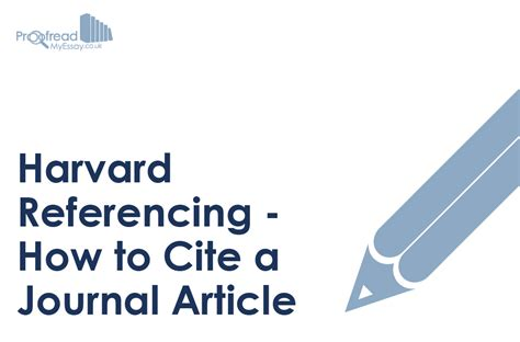 Harvard Referencing – How to Cite a Journal Article