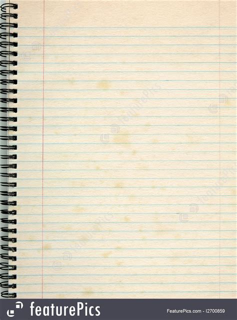 Texture: Old Lined Paper In A Notepad