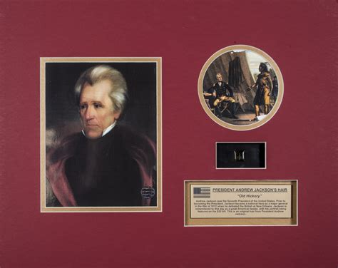 Lot Detail - Andrew Jackson Hair Strand with Photo Display
