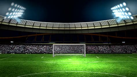 Video stock a tema Football Stadium with Lights and (100%